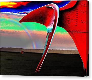 Over The Rainbow Canvas Print by Tim Allen