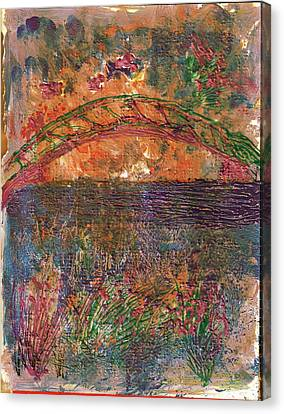 Over The River And Through The Woods Canvas Print by Anne-Elizabeth Whiteway