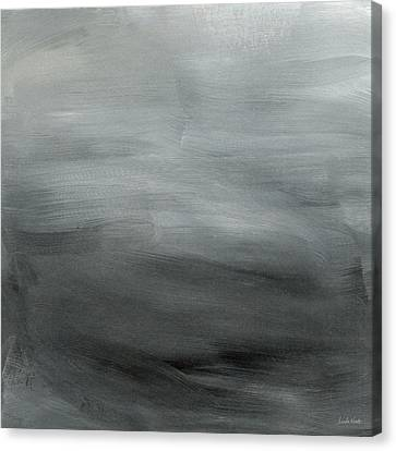 Overcast Morning- Abstract Art By Linda Woods Canvas Print by Linda Woods