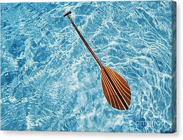 Overhead View Of Paddle Canvas Print by Joss - Printscapes