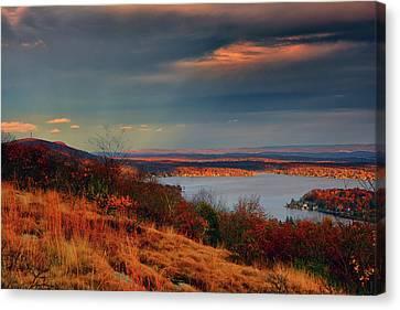 Overlooking Culvers Lake Canvas Print by Raymond Salani III