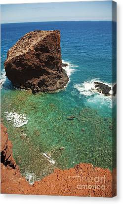 Overlooking Puu Pehe II Canvas Print by Ron Dahlquist - Printscapes
