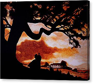 Overlooking Tara At Sunset Canvas Print by Al  Molina