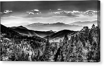 Overlooking The Southwest Canvas Print by Christopher Wieck