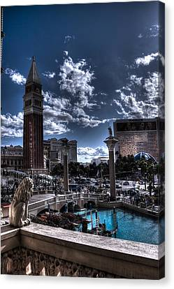 Overlooking The Strip Canvas Print by DayDream Images by Nancy Tsuzaki