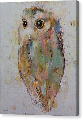 Owl Painting Canvas Print by Michael Creese