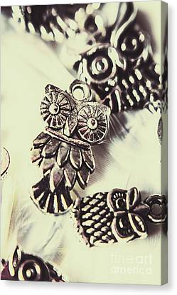 Owl Pendants. Charms Of Wisdom Canvas Print by Jorgo Photography - Wall Art Gallery