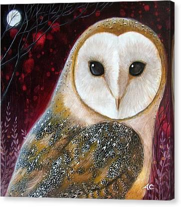 Owl Power Animal Canvas Print by Amanda Clark