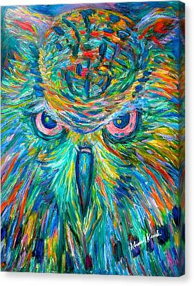 Owl Stare Canvas Print by Kendall Kessler