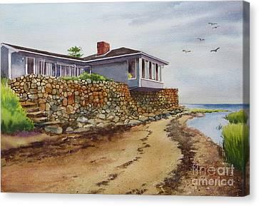 Riverhouse Canvas Print by Karol Wyckoff