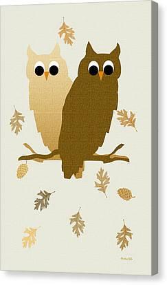 Owls Pattern Art Canvas Print by Christina Rollo