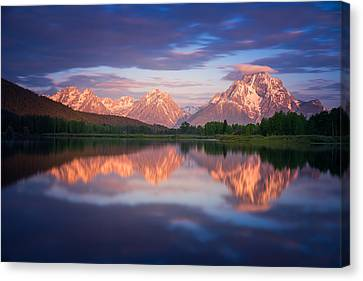 Oxbow Canvas Print by Darren  White