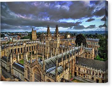Oxford University - All Souls College Canvas Print by Yhun Suarez