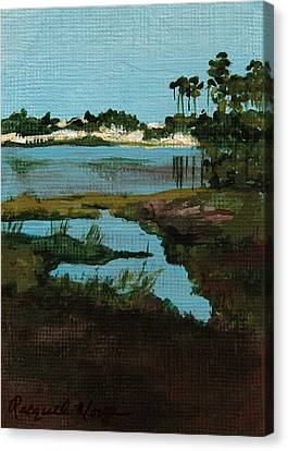 Oyster Lake Canvas Print by Racquel Morgan