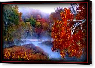 Ozark Mountain Mist Canvas Print by Lesli Sherwin