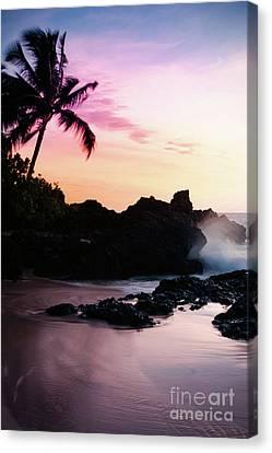 Paako Beach Sunset Jewels Canvas Print by Sharon Mau