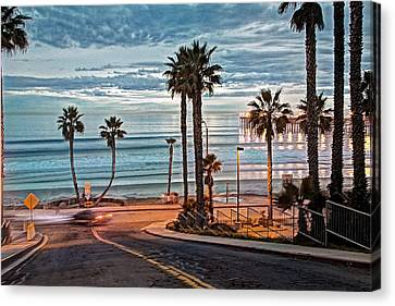 Pacific And 1st Street Canvas Print by Ann Patterson