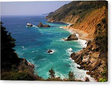 Pacific Coast Blues Canvas Print by Donna Kennedy