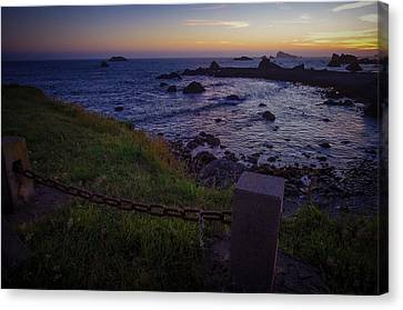 Pacific Ocean Cove Northern California Sunset Canvas Print by Scott McGuire