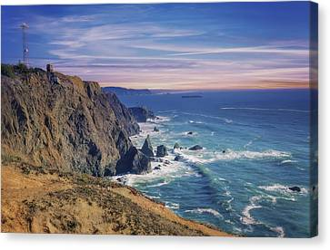 Pacific Ocean View Towards Point Bonita Lighthouse Canvas Print by Jennifer Rondinelli Reilly