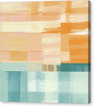 Pacific Sunset- Abstract Art By Linda Woods Canvas Print by Linda Woods