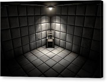 Padded Cell And Empty Chair Canvas Print by Allan Swart