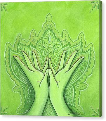 Padma Mudra Canvas Print by Sabina Espinet