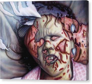 Pain Canvas Print by James W Johnson