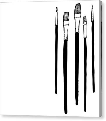 Paint Brushes Canvas Print by Karl Addison