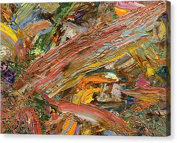 Paint Number 41 Canvas Print by James W Johnson