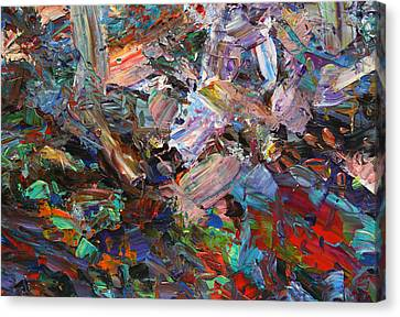 Paint Number 42-c Canvas Print by James W Johnson