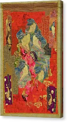 Painted Geisha Canvas Print by Roberta Baker