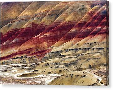 Painted Hills Contour Canvas Print by Mike  Dawson