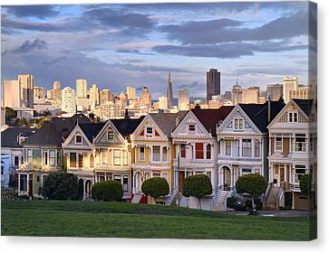 Painted Ladies In Sf California Canvas Print by Pierre Leclerc Photography