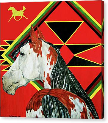 Painted Pony Canvas Print by Cat Culpepper