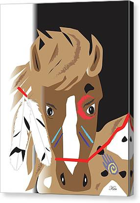 Painted Pony Canvas Print by Kenneth Leon Roberts