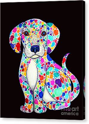 Painted Puppy 2 Canvas Print by Nick Gustafson
