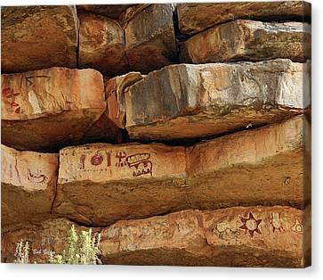 Painted Rocks Canvas Print by Bob Zeller