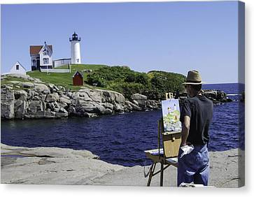 Painting Nubble Canvas Print by Phyllis Taylor