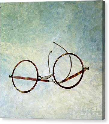Pair Of Glasses Canvas Print by Bernard Jaubert