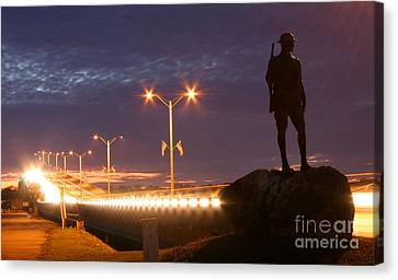 Palatka Memorial Bridge Doughboy Canvas Print by Angie Bechanan