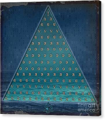 Palindrome Pyramid V1-enigmatic Canvas Print by Bedros Awak