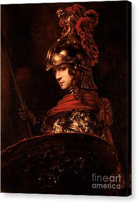 Pallas Athena  Canvas Print by Rembrandt