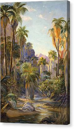 Palm Canyon Canvas Print by Lewis A Ramsey