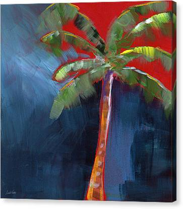 Palm Tree- Art By Linda Woods Canvas Print by Linda Woods