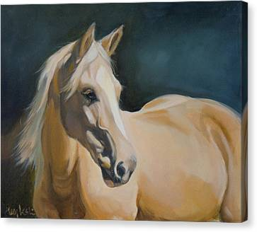 Palomino On Blue Canvas Print by Mary Leslie