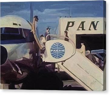Pan American Airways Boeing 707 Canvas Print by Nop Briex