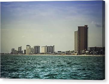 Panama City Beach Coastline 2 Canvas Print by Debra Forand