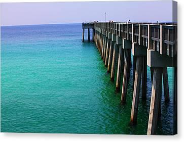 Panama City Beach Pier Canvas Print by Toni Hopper