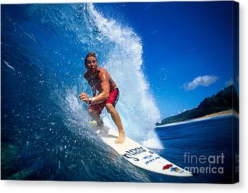 Pancho Makes The Wave Canvas Print by Vince Cavataio - Printscapes